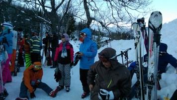 Ski Trip Jan 2015 D4: Epic Bus Stop Queue