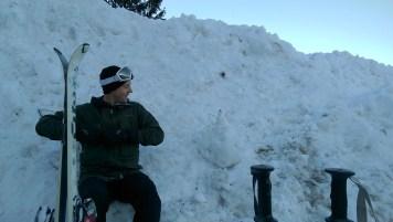 Ski Trip Jan 2015 D4: Richard and Snowman