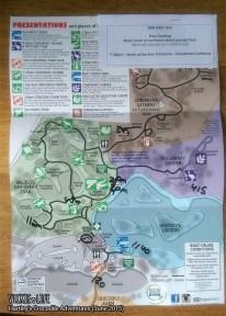 Hartley's Crocodile Adventures, June 2015: Map and Schedule