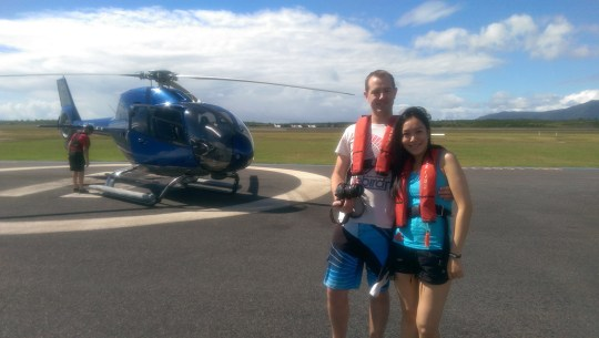 Great Barrier Reef Cairns, June 2015: Our Helicopter