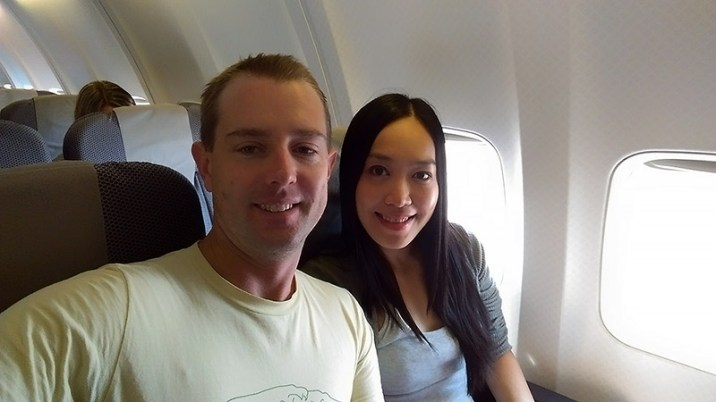 QF925: Flight Selfie
