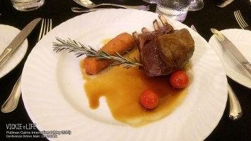 Pullman Cairns Conference Dinner: Lamb Rack (main)