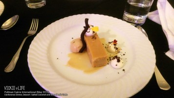Pullman Cairns Conference Dinner: Salted Caramel and Macadamia Torte (dessert)