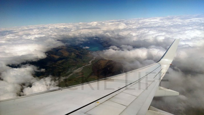 QF121 Qantas view out the window