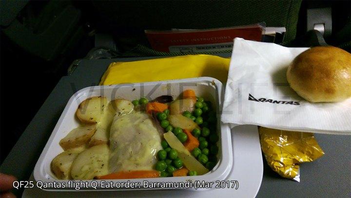 QF25 Qantas flight Q-Eat Barramundi (online exclusive)