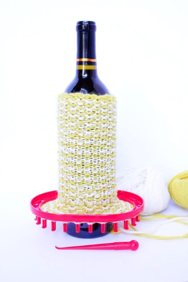 Oval Knitting Loom Wine Sleeve Measure