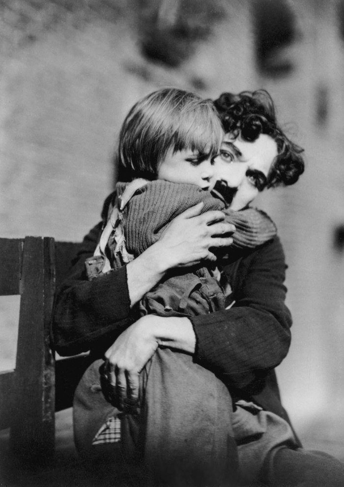 Jackie Coogan and Charlie Chaplin THE KID
