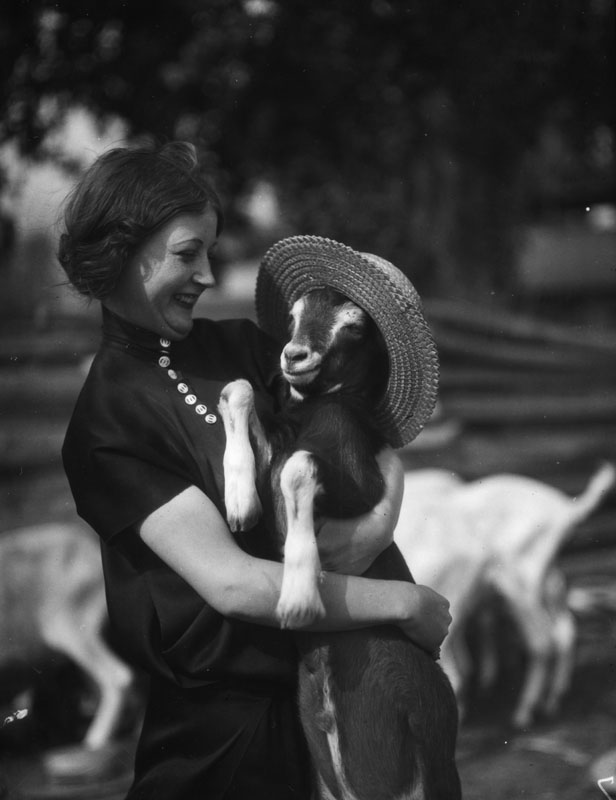 1928 woman with goat