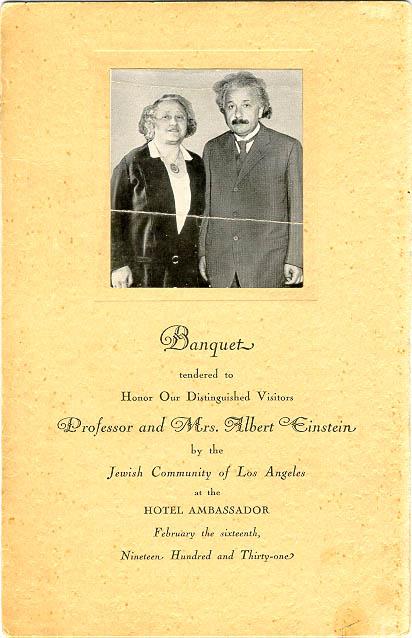 banquet Professor and Mrs. Eisnstein