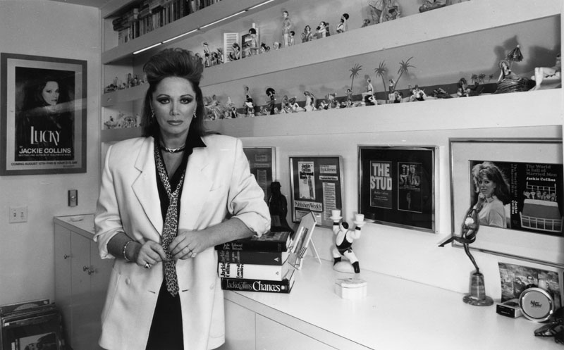 Jackie Collins photographed by Tom Zimmerman 1987. From the collection of the Los Angeles Public Library
