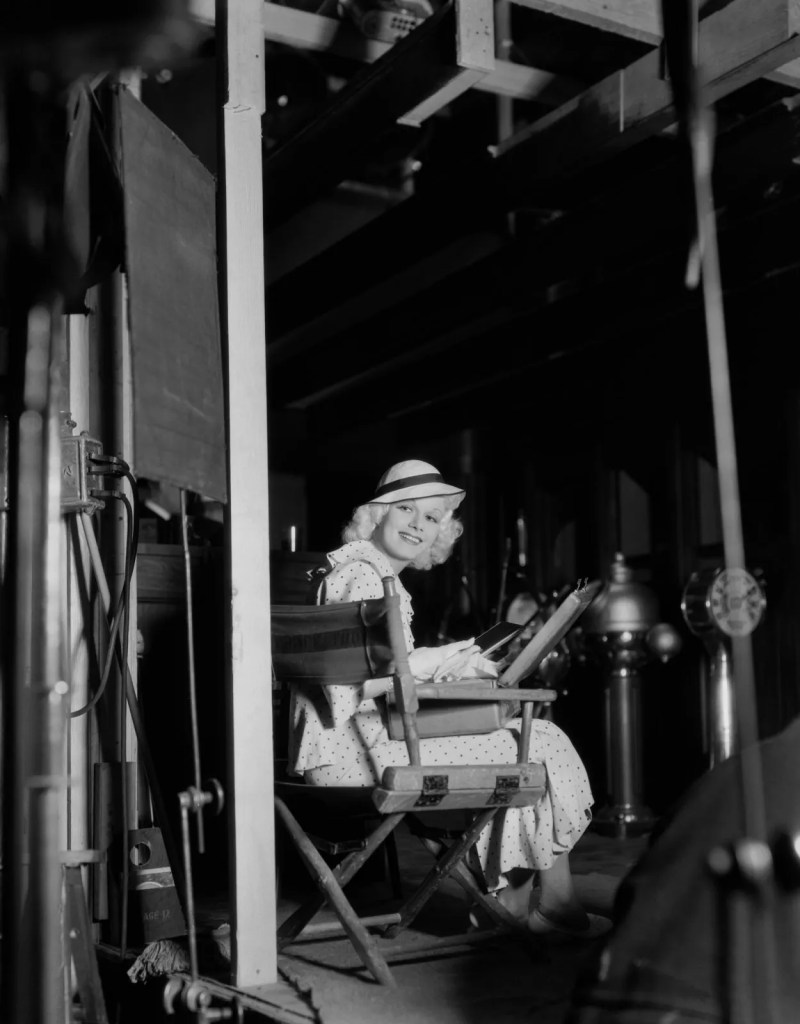 Jean Harlow behind the scenes