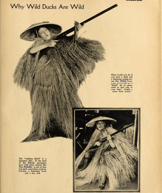 Gloria Swanson, Why wild ducks are wild, Shadowland Mag. 1919