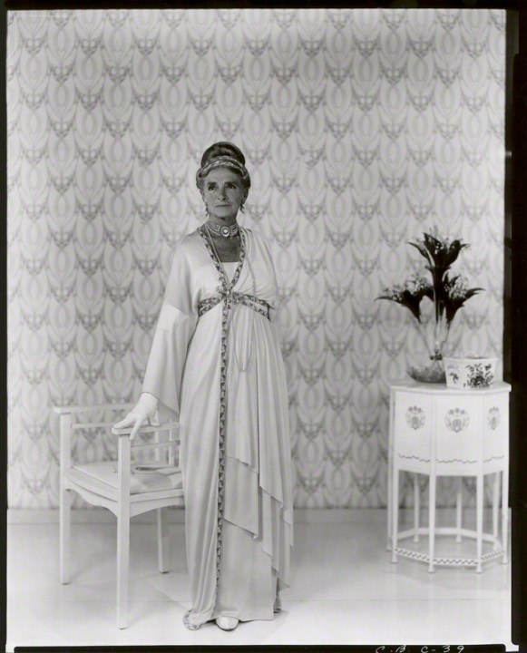NPG x40068; Dame Gladys Cooper as Mrs Higgins in 'My Fair Lady' by Cecil Beaton