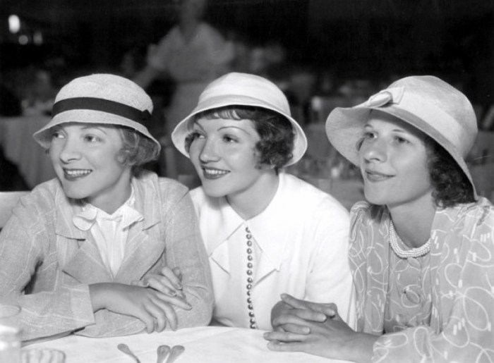 Helen-Hayes-Claudette-Colbert-and-Ruth-Gordon-at-the-Paramount-commissary.-1939