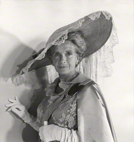 NPG x40071; Dame Gladys Cooper as Mrs Higgin's in 'My Fair Lady' by Cecil Beaton