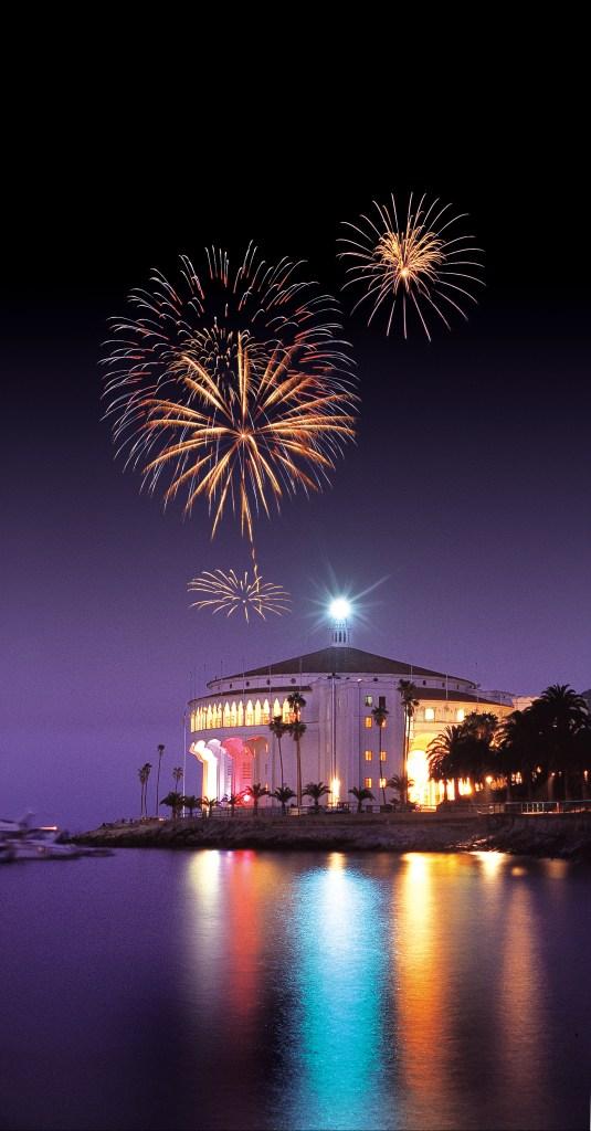 Fireworks over Catalina Island