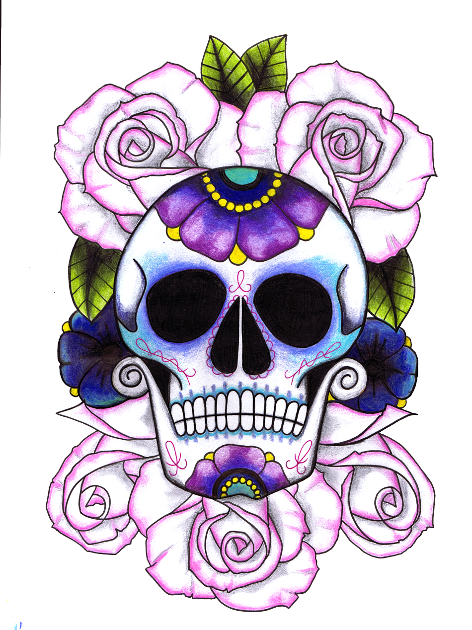 Purple Girl Candy Skull Wallpaper Tattoo Vickiliciousdesigns