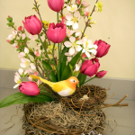 Floral Design: Spring Nest Arrangement