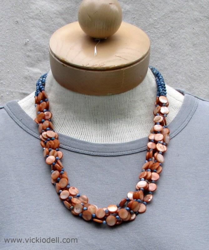 Sand and Surf Necklace and Earrings