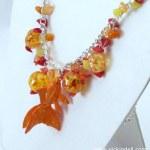 A Goldfish Necklace with Krylon Glitter Blast