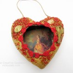 Valentine's Day Mixed Media Heart