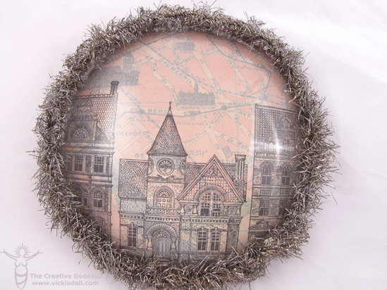 Christmas in Paris Upcycled Paperweight – Handmade Holidays Blog Hop