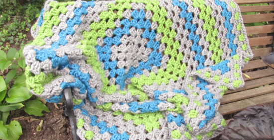 """The """"Chunky Granny"""" - Granny Square Afghan"""