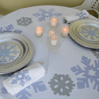 Winter Wonderland Table Setting – Romantic Dinner for Two
