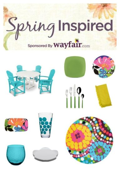Spring Inspired Idea board for Wayfair