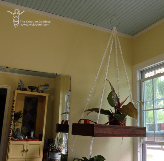 Floating Macrame Shelf