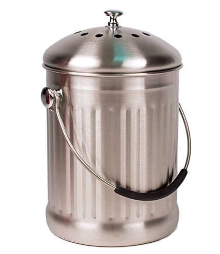 Stainless Steel Kitchen Countertop Compost Bin