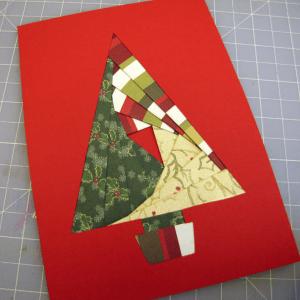 Iris Paper Folding Christmas Card