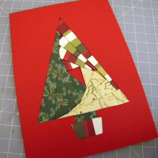Iris Paper Folding Christmas Tree Card