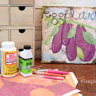 Garden Inspired Mixed Media - Eggplant