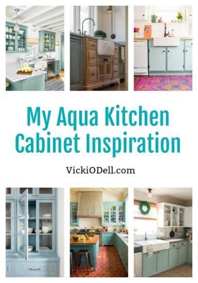 Aqua Kitchen Cabinet Inspiration