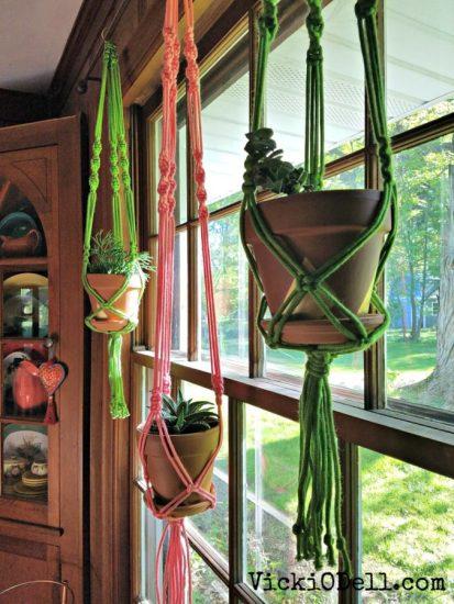 3 Modern Bohemian Plant Hangers