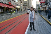 Me in front of the red street