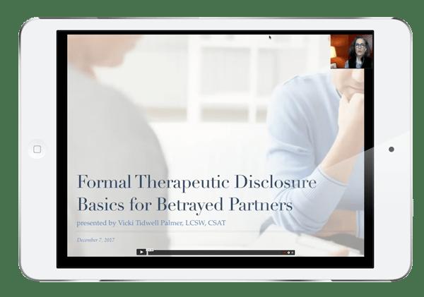 Screenshot of Formal Therapeutic Disclosure Basics Presentation