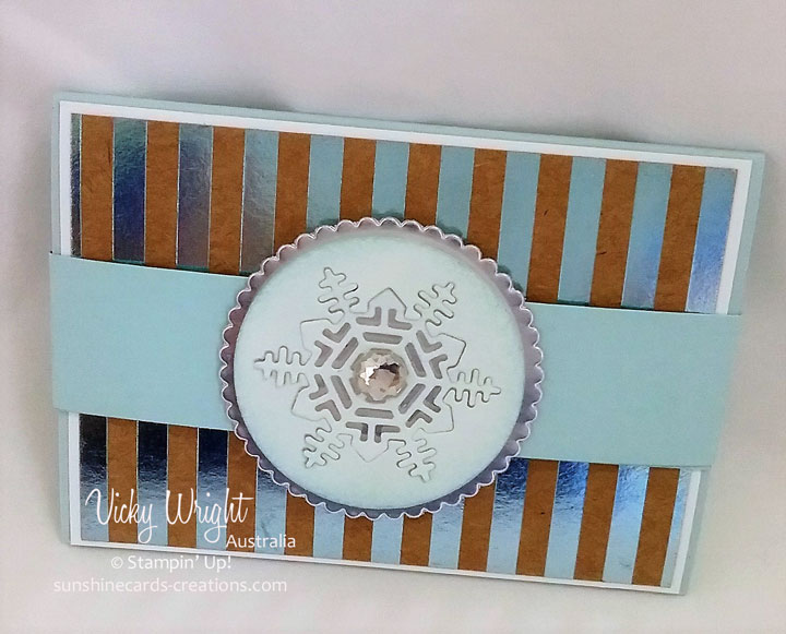 Gift Card Holder, Foil Frenzy Specialty DSP, Seasonal Layers Thinlits, Free Tutorial, Vicky Wright, Stampin' Up!
