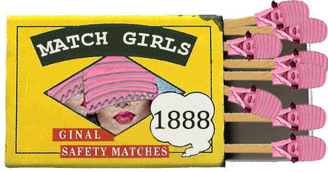 Match Girls, Scanned BRYMAY Matchbox Manipulated using Adobe Photoshop