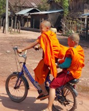 Monks in the village