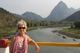 Views of the Nam Or river near Luang Prabang