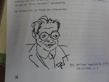 Caricature of Hermann Ungar shortly before he died
