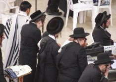 Orthodox Jews at the Wall
