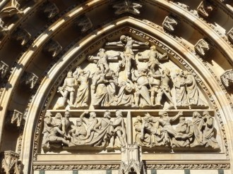 Stone carving at St Vitus Cathedral
