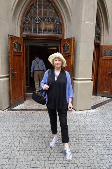 Bonnie waiting to enter