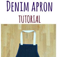 Upcycled Denim Apron - DIY Gift