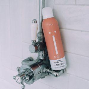 linen shower foam