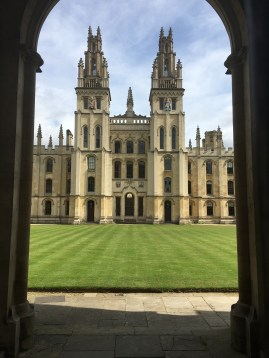 View inside All Souls College from Catte Street