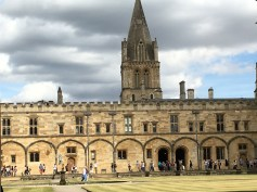 Christ Church College with the Cathedral Tower in the Background